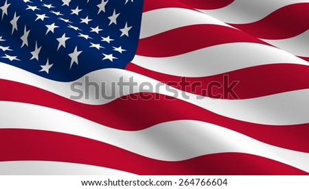 United States flag background. Computer generated 3D photo rendering. - stock photo