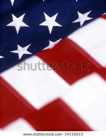 United States Flag close-up - stock photo