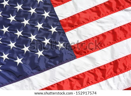 United States flag close up useful as a background texture
