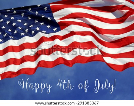 United States Flag Fourth of July Concept