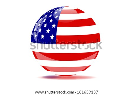 United States globe illustration. Vector file available.