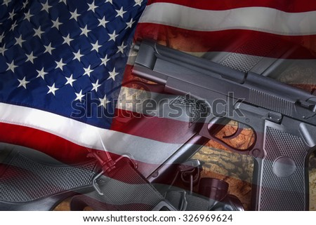 United States Gun Laws - Guns and weapons - stock photo