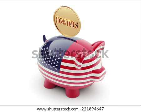 United States High Resolution Hospitals Concept High Resolution Piggy Concept