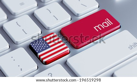 United States High Resolution Mail Concept - stock photo