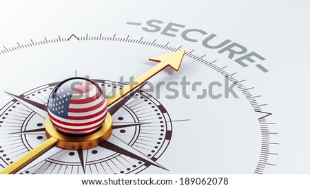 United States High Resolution Secure Concept - stock photo