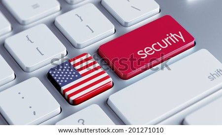 United States High Resolution Security Concept - stock photo