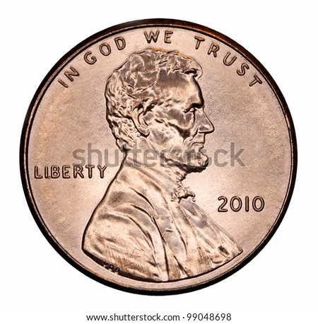 United States Lincoln Penny - stock photo