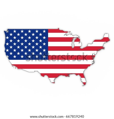 United States America Map Flag Vector Stock Vector - Usa map outline clipart