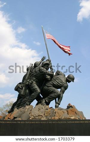 United States Marine Corp war memorial - stock photo