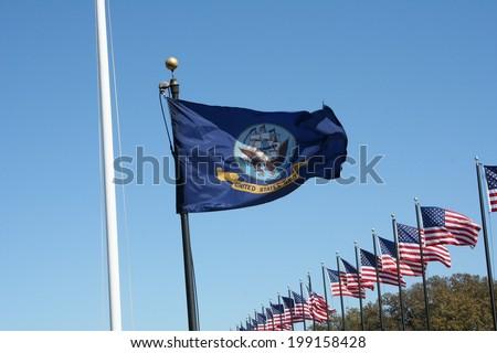 United States Navy Flag - stock photo