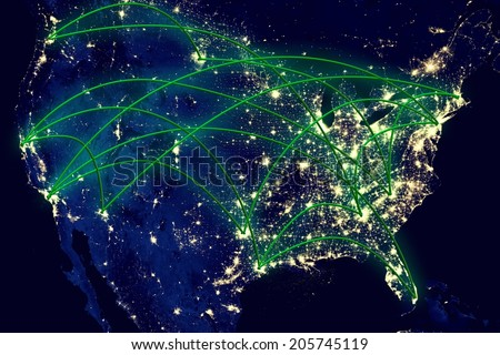 United states network night map space foto de stock libre de united states network night map from space elements of this image furnished by nasa gumiabroncs Image collections