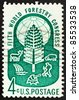 UNITED STATES OF AMERICA - CIRCA 1960: A stamp printed in the United States of America shows 5th world forestry congress seal, Seattle, Washington, circa 1960 - stock photo