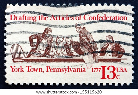 Drafting the articles of confederation Stock Photos ...