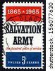 UNITED STATES OF AMERICA - CIRCA 1965: a stamp printed in the USA shows Salvation Army, Centenary of the Founding in London by William Booth, circa 1965 - stock photo