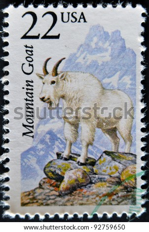 UNITED STATES OF AMERICA - CIRCA 1981: A stamp printed in USA shows mountain goat, circa 1981
