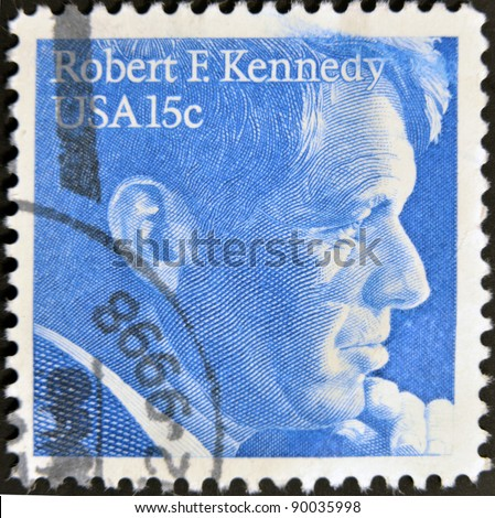 UNITED STATES OF AMERICA - CIRCA 1978: A stamp printed in USA, shows Robert Kennedy, circa 1978