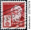 UNITED STATES OF AMERICA - CIRCA 1940: A stamp printed in USA shows Samuel Finley Breese Morse , circa 1940 - stock photo