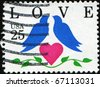 UNITED STATES OF AMERICA - CIRCA 1990: Love special stamp printed in the USA, circa 1990 - stock photo