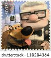UNITED STATES OF AMERICA - CIRCA 2011:  stamp printed in USA shows an image of Up movie, circa 2011. - stock photo