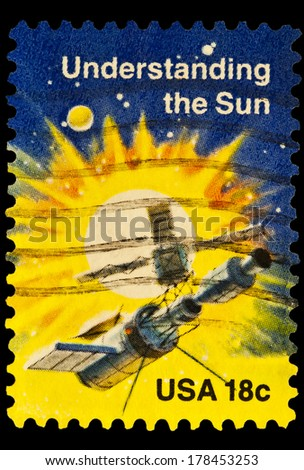 UNITED STATES OF AMERICA - CIRCA 2014: stamp printed in USA shows understanding the sun, USA 18c, circa 2014