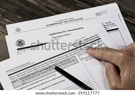 United States of America citizenship immigration naturalization application process With Public Documents for education.