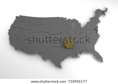 United States Map With Arkansas Highlighted U S States Map - United states map arkansas