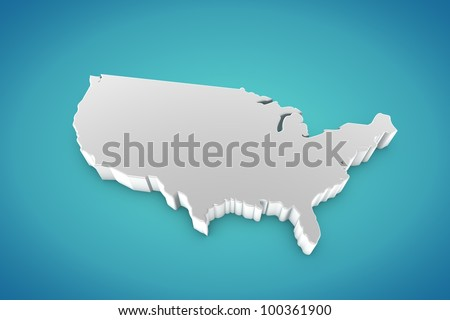 United States of America Map - stock photo
