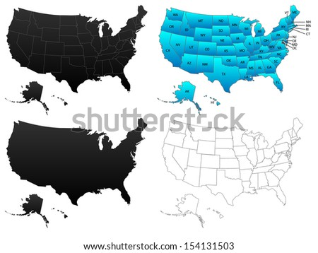 Usa Outline Stock Images RoyaltyFree Images Vectors Shutterstock
