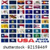 United States of America states flags collection - stock