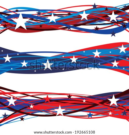 United States Patriotic Flag Day Headers - stock photo