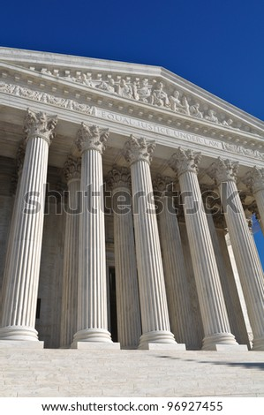 United States Supreme Court Building - stock photo
