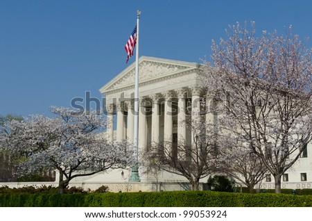 United States Supreme Court in spring - stock photo