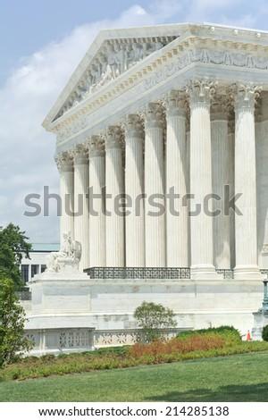United States Supreme Court in Washington DC - stock photo