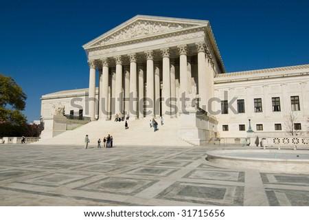 United States Supreme Court in Washington, DC - stock photo