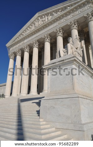 United States Supreme Court in Washington DC - stock photo