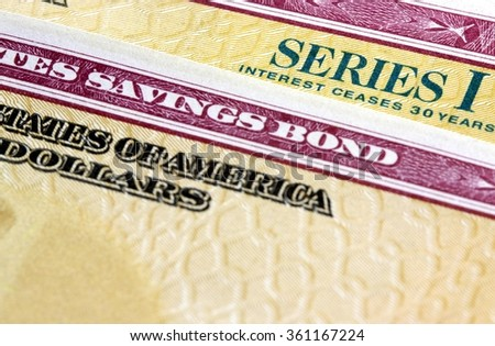 United States Treasury Savings Bonds - Investment wealth concept