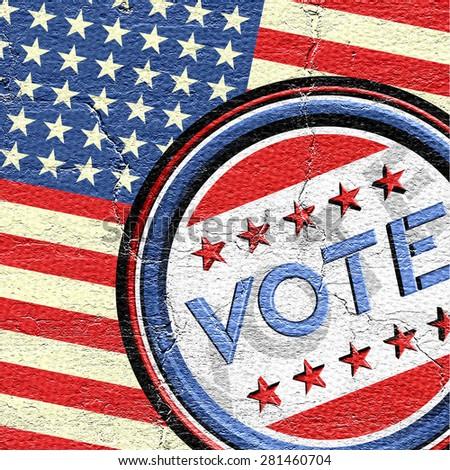 United States vote - stock photo
