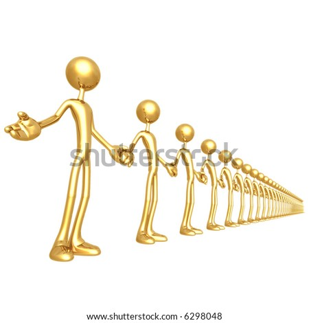 Unity Chain Holding Hands - stock photo