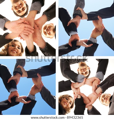 Unity of business people - stock photo