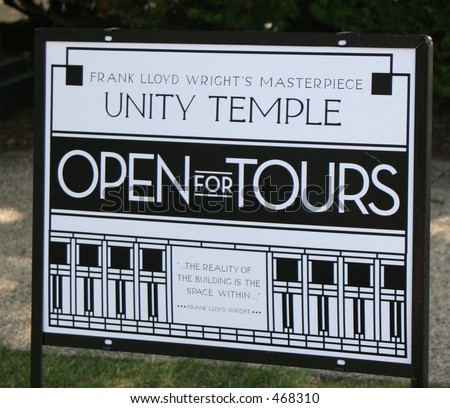Unity Temple Oak Park Illinois - stock photo