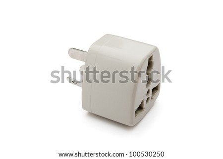universal adapter with clipping path