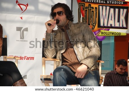 "UNIVERSAL CITY, CA- FEBRUARY 13: Actor/singer Jencarlos Canela from ""Mas Sabe El Diablo"" cast at a special presentation for fans at Citywalk, February 13, 2010 in Universal City, CA."