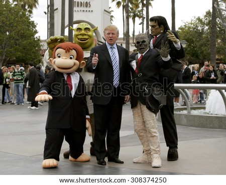 UNIVERSAL CITY, CA - MARCH 2006: Donald Trump kicks off the sixth season casting call search for The Apprentice held in the Universal Studios Hollywood, USA on March 10, 2006. - stock photo
