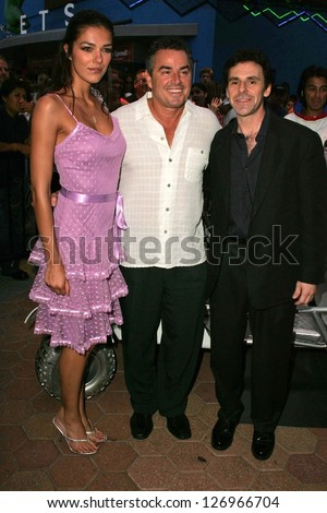 "UNIVERSAL CITY - JULY 19: Adrianne Curry with Christopher Knight and Bryan Michael Stoller at the Premiere Screening of ""Light Years Away"" at Walk Cinemas July 19, 2006 in Universal City, CA"