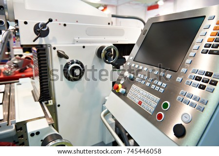 Universal milling and drilling machine with control panel