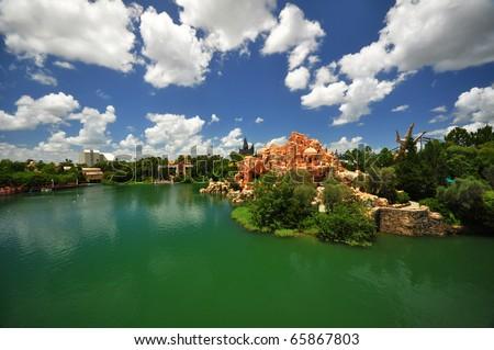 Universal Orlando Resort - elevated view - stock photo