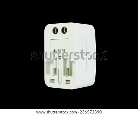 universal plug isolated in black background