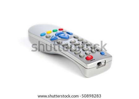 Universal remote control, isolated on white background