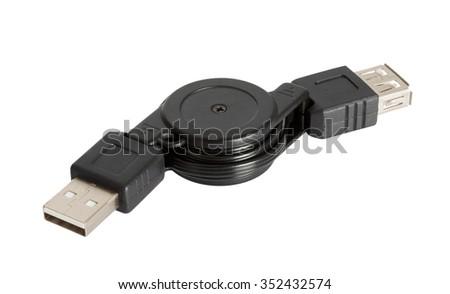 Universal Serial Bus (USB) on white background. - stock photo