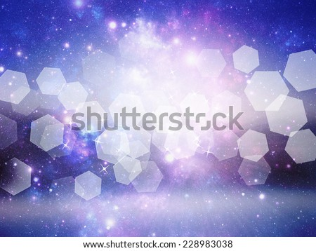 Universe background with bokeh effect - stock photo